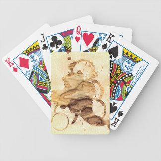 Coffee spills - Cool hand-made coffee spill design Baraja Cartas De Poker