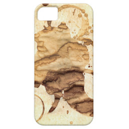 Coffee spills - Cool hand-made coffee spill design iPhone SE/5/5s Case