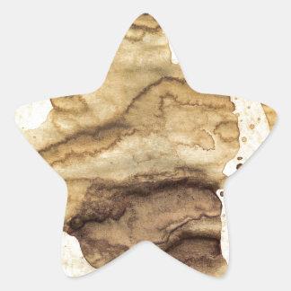 Coffee spills - Cool hand-made coffee spill design Star Sticker