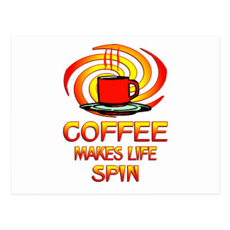 Coffee Spins Postcard