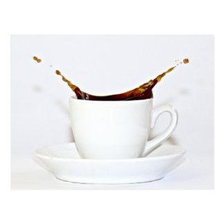 Coffee splash postcard