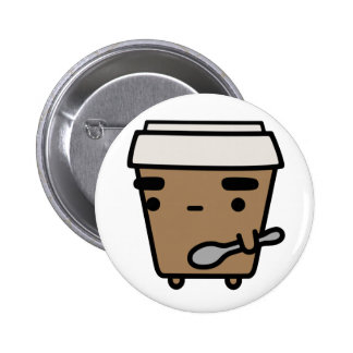 Coffee & Spoon Pinback Button