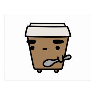 Coffee & Spoon Postcard
