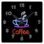 Coffee Square Wallclocks