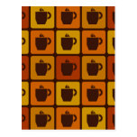 Coffee Squares postcard, customizable