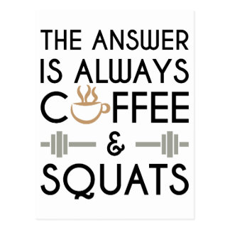 Coffee & Squats 2 Postcard