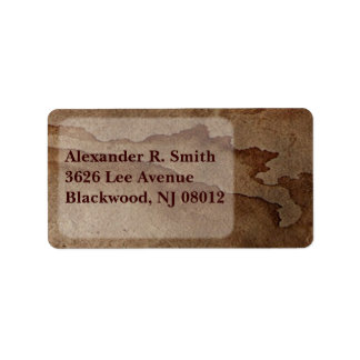 Coffee Stain Address Label
