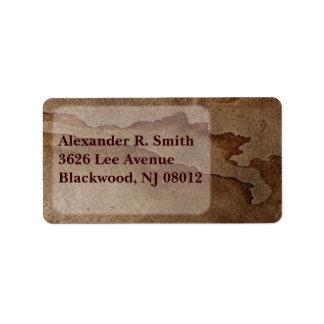 Coffee Stain Address Label