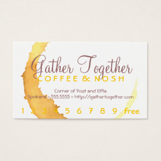 Coffee Stain Gather Punch / Loyalty Card