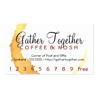 Coffee Stain Gather Punch / Loyalty Card Double-Sided Standard Business Cards (Pack Of 100)