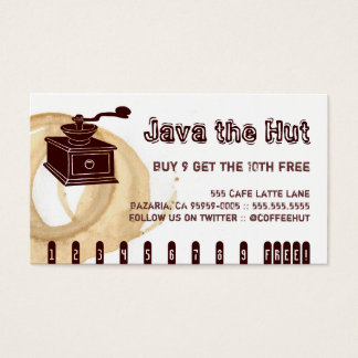Coffee Stain Grinder Drink Punch Business Card