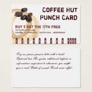 Coffee Stain Logo Drink Punch Card