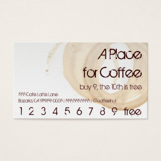 Coffee Stain Logo Drink Punch Hero Business Card