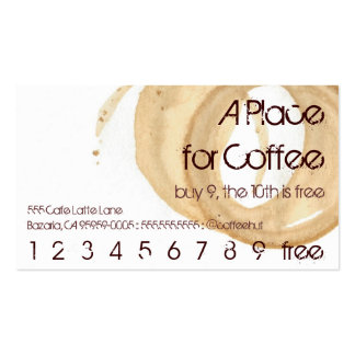Coffee Stain Logo Drink Punch Hero Business Card Templates