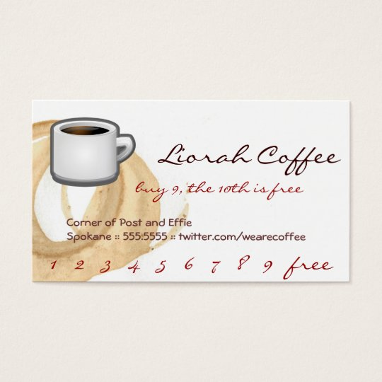 Coffee Stain Logo Drink Punch Liorah Business Card
