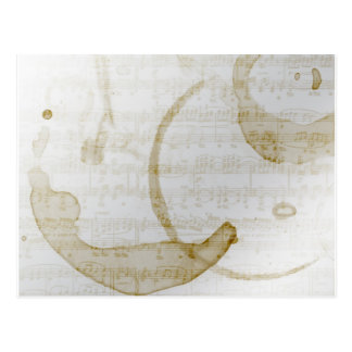 coffee stain music postcard