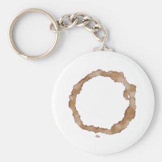 Coffee Stain Pattern Basic Round Button Keychain