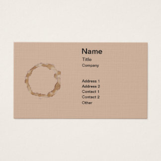 Coffee Stain Pattern Business Card
