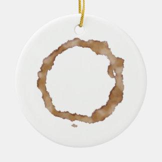 Coffee Stain Pattern Ceramic Ornament