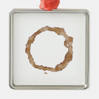 Coffee Stain Pattern Metal Ornament