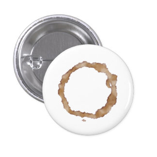 Coffee Stain Pattern Pinback Button