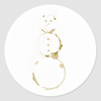 Coffee Stain Snowman Stickers