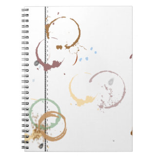 Coffee Stain Typeart Grunge Pattern Note Book