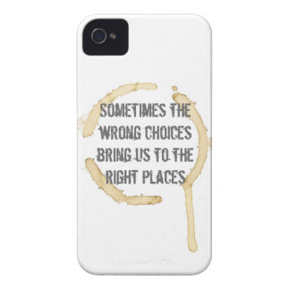 Coffee Stain with Quote iPhone 4 Cover
