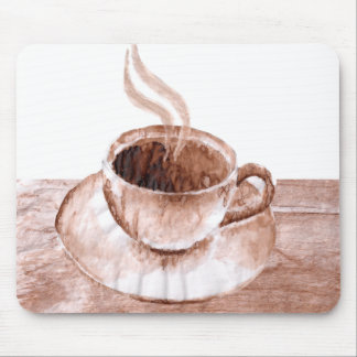 coffee stained mouse pad