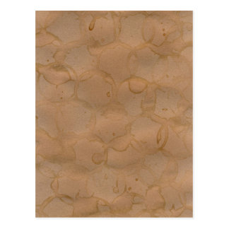 coffee stains background postcard