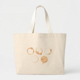 Coffee stains jumbo tote bag