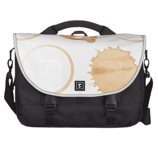 Coffee stains laptop bag