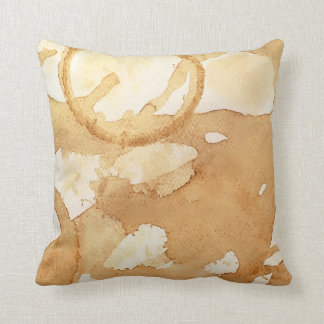 Coffee Stains Throw Pillow