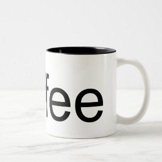 coffee standard text Two-Tone coffee mug