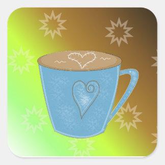 Coffee Square Sticker