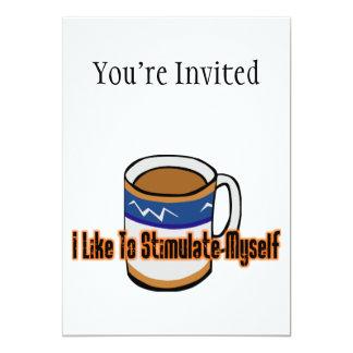 "Coffee Stimulation 5"" X 7"" Invitation Card"
