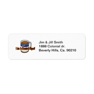 Coffee Stimulation Return Address Labels