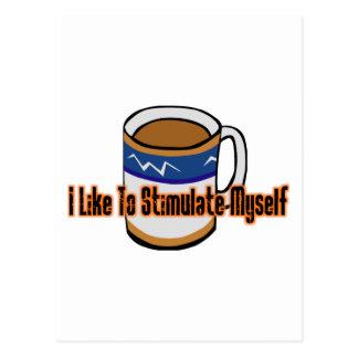 Coffee Stimulation Postcard