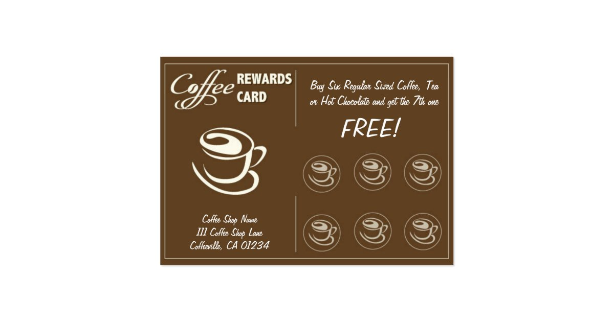Coffee Store Punch Cards Zazzle