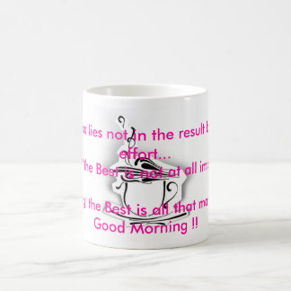 coffee,     Success lies not in the result but ... Coffee Mug