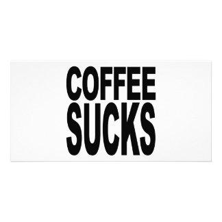 Coffee Sucks Photo Greeting Card