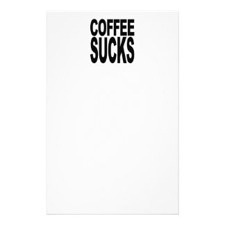 Coffee Sucks Stationery