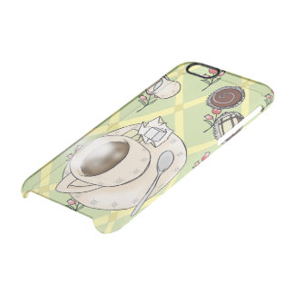 coffee, sugar, cream and chocolates clear iPhone 6/6S case