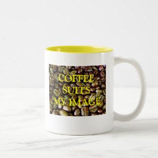COFFEE SUITS MY IMAGE Two-Tone COFFEE MUG