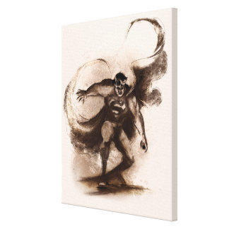 Coffee Superman Gallery Wrap Canvas