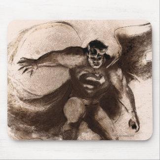 Coffee Superman Mouse Pad