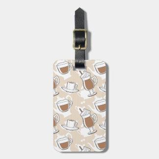 Coffee, sweet pattern bag tag