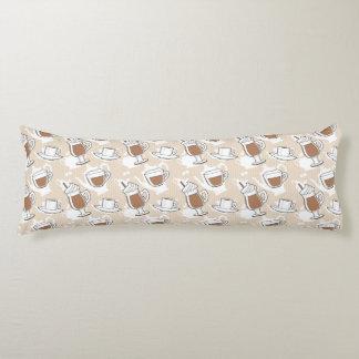 Coffee, sweet pattern body pillow