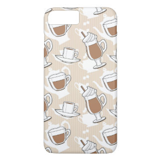Coffee, sweet pattern iPhone 8 plus/7 plus case