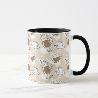 Coffee, sweet pattern mug